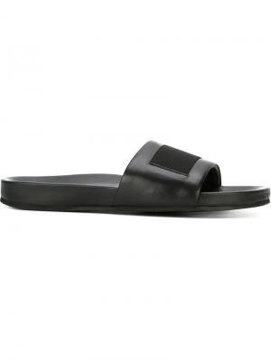 Классические открытые сандалии Each X Other. Цвет: чёрный
