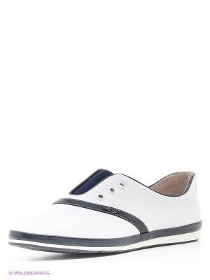 Ботинки Makfly. Цвет: белый, темно-синий