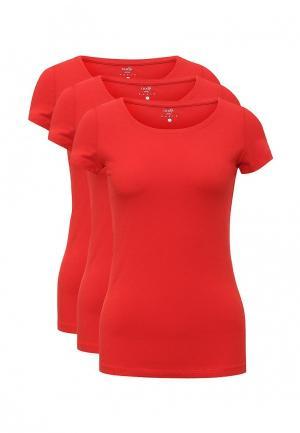 Комплект футболок 3 шт. oodji. Цвет: красный
