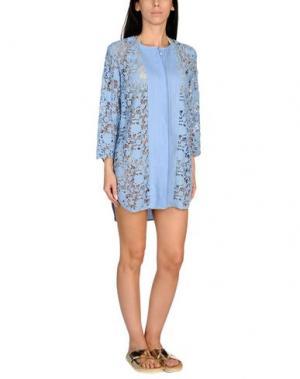 Пляжное платье ERMANNO SCERVINO BEACHWEAR. Цвет: небесно-голубой