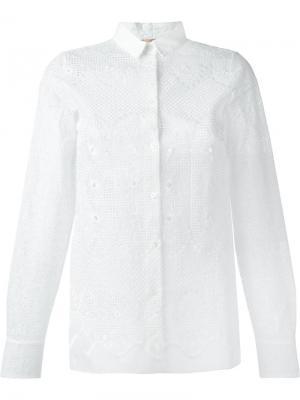 Кружевная рубашка Nº21. Цвет: белый