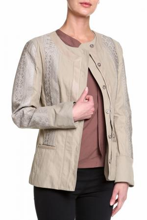 Куртка Elie Tahari. Цвет: бежевый