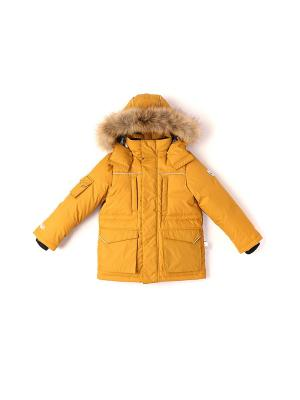 Куртка NELS. Цвет: горчичный