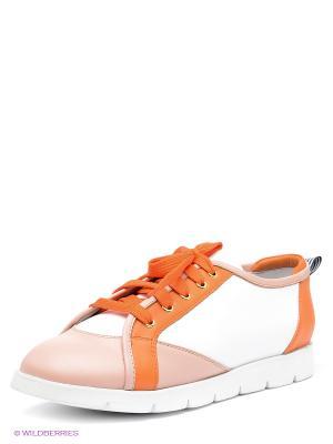 Кроссовки Vitacci. Цвет: белый, оранжевый, кремовый
