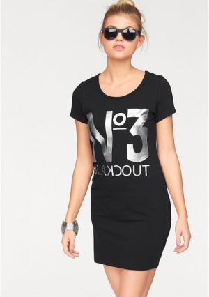 Платье AJC. Цвет: черный/серебристый