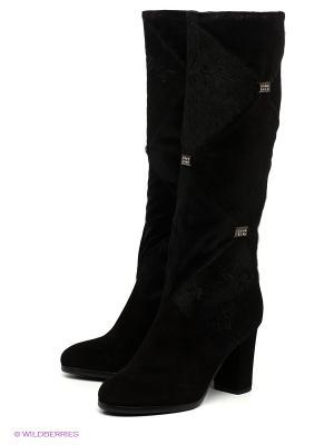Сапоги Moda Donna. Цвет: черный, серебристый