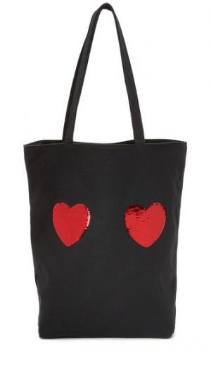 Объемная сумка с короткими ручками Heart Marc Jacobs