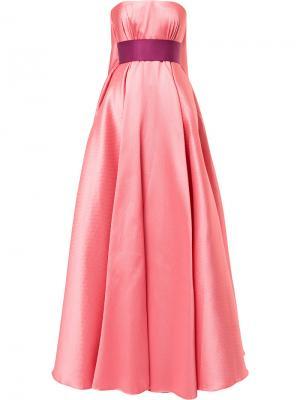 Платье Princess без бретелей Alexis Mabille. Цвет: розовый и фиолетовый