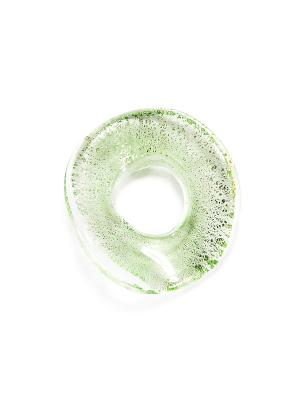 Кольцо из муранского стекла Bottega Murano. Цвет: салатовый, серебристый