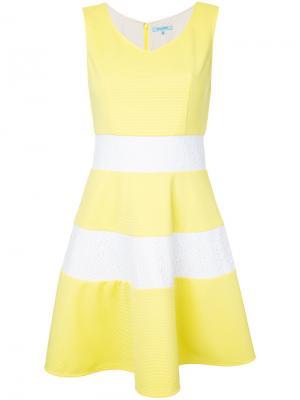 Платье мини в полоску Guild Prime. Цвет: жёлтый и оранжевый