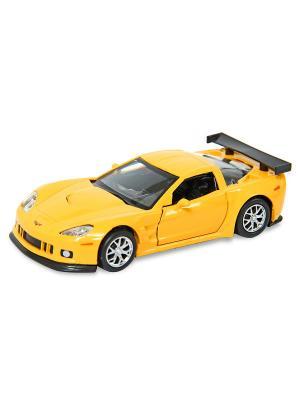Машина металлическая Chevrolet Corvette C6.R, 1:32. HOFFMANN. Цвет: серый, желтый