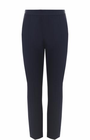 Однотонные брюки-скинни Escada. Цвет: темно-синий