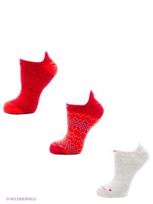 Носки 3PPK WOMENS DRI FIT GRAPHIC N Nike. Цвет: красный, белый