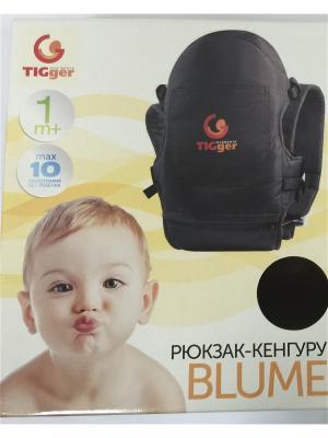 Рюкзак  для переноски детей c козырьком Blumе TIGger. Цвет: синий