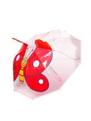 Зонт ZONT-BABOCHKA Mitya Veselkov. Цвет: белый, красный, желтый