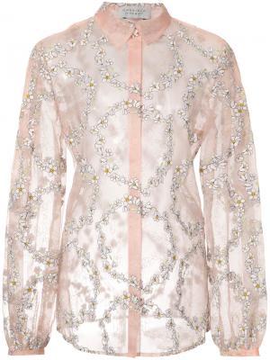 Daisy chain sheer blouse Gabriela Hearst. Цвет: розовый и фиолетовый