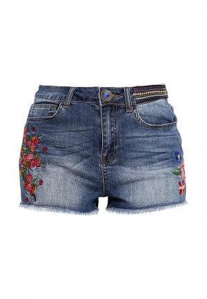 Шорты джинсовые Desigual. Цвет: серый