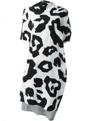 Платье с леопардовым принтом Junya Watanabe Comme Des Garçons. Цвет: чёрный