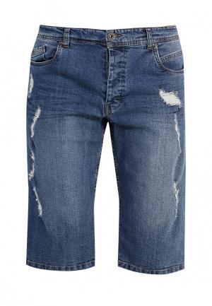 Шорты джинсовые MeZaGuz. Цвет: голубой