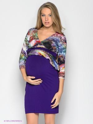 Платье UNIOSTAR. Цвет: фиолетовый, белый, зеленый