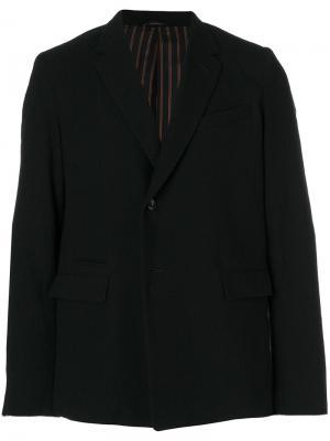 Однобортный пиджак Maison Mihara Yasuhiro. Цвет: чёрный