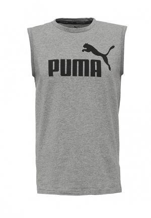 Майка спортивная PUMA. Цвет: серый