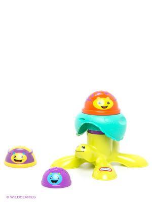 Пирамида из черепашек Little Tikes. Цвет: желтый, зеленый, голубой, фиолетовый
