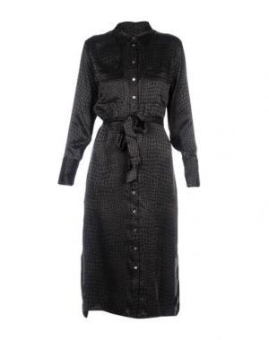 Платье длиной 3/4 EQUIPMENT FEMME. Цвет: стальной серый
