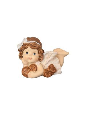 Фигурка декоративная Ангелочек с пряниками Elan Gallery. Цвет: бежевый, золотистый, коричневый