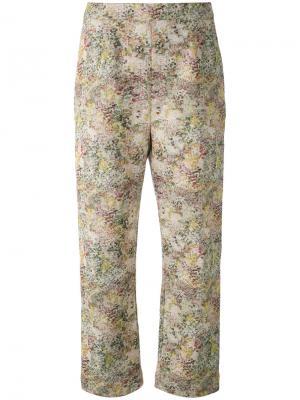 Укороченные брюки с абстрактным принтом Isa Arfen. Цвет: телесный