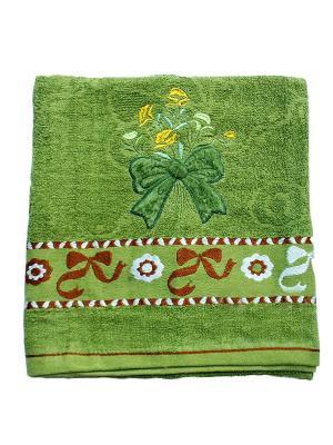 Полотенце Бант 70х140 La Pastel. Цвет: зеленый