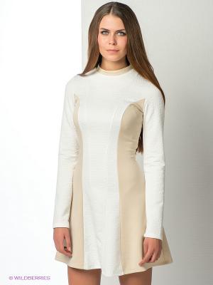 Платье ELENA FEDEL. Цвет: бежевый, белый