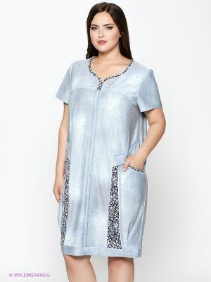 Платье Amelia Lux. Цвет: голубой, синий