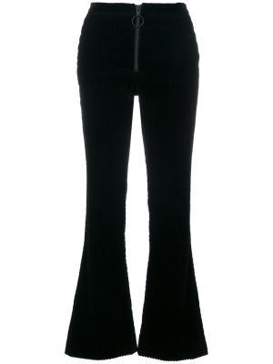 Вельветовые расклешенные брюки Off-White. Цвет: синий