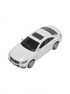 Машинка Инерционная Mercedes-Benz CLS 63 AMG (C218), Белая (1:32) (PS-554995-W) Pit Stop. Цвет: белый