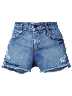 Джинсовые шорты Split Nobody Denim. Цвет: синий