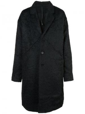 Пальто свободного кроя Barbara I Gongini. Цвет: чёрный