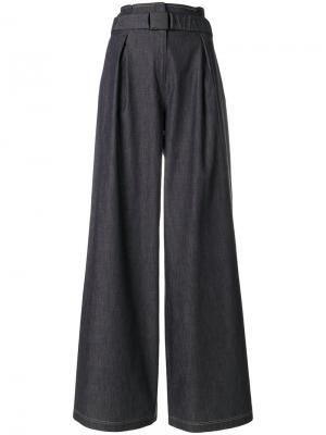 Расклешенные брюки Nº21. Цвет: синий