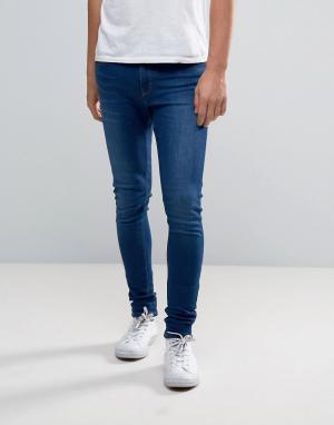 Waven Супероблегающие джинсы. Цвет: синий