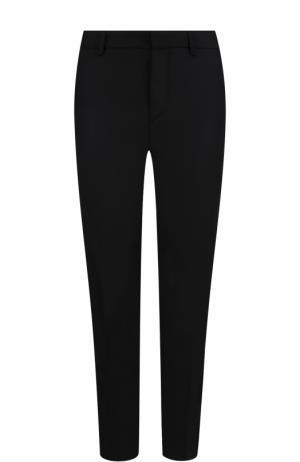 Укороченные шерстяные брюки прямого кроя Polo Ralph Lauren. Цвет: черный