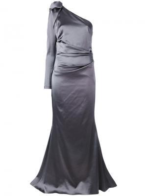 Вечернее платье Noelani I Talbot Runhof. Цвет: серый