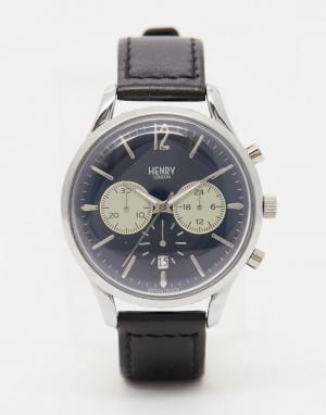Henry London Часы с хронографом и кожаным ремешком Knightsbridge. Цвет: коричневый