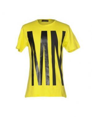 Футболка MNML COUTURE. Цвет: желтый