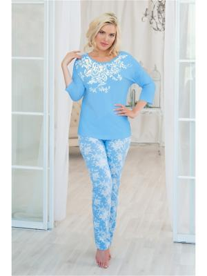 Домашний костюм Mia Cara. Цвет: белый, голубой