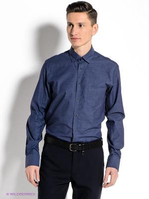 Рубашка MONDIGO. Цвет: синий