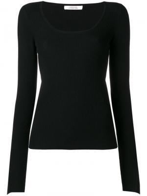 Трикотажная блузка с расклешенными рукавами Dorothee Schumacher. Цвет: чёрный