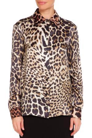 Блуза CLIPS MORE. Цвет: леопардовый