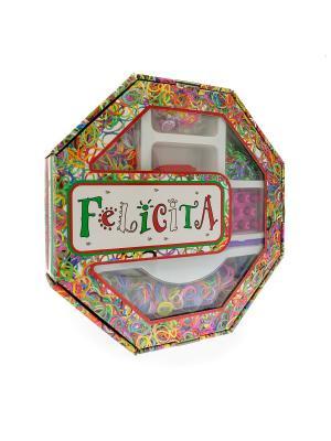 FELICITA. Развивающий набор для плетения браслетов из резиночек (4-3) АНДАНТЕ. Цвет: синий, зеленый, красный