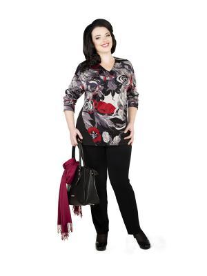 Кофточка Darissa Fashion. Цвет: черный, красный, серый