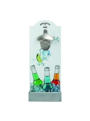 Настенная открывалка для бутылок Bunte Flaschen Contento. Цвет: светло-голубой, белый, оранжевый